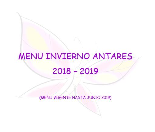 MENU INVIERNO 2018 – 2019
